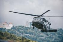 20180330臺北市107年災害防救演習,國軍所屬陸航直升機參與空中勘災等科目,30日下午於北部空域實施演練 (1)