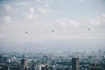 20180330臺北市107年災害防救演習,國軍所屬陸航直升機參與空中勘災等科目,30日下午於北部空域實施演練 (2)