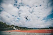 20180330臺北市107年災害防救演習,國軍所屬陸航直升機參與空中勘災等科目,30日下午於北部空域實施演練 (3)