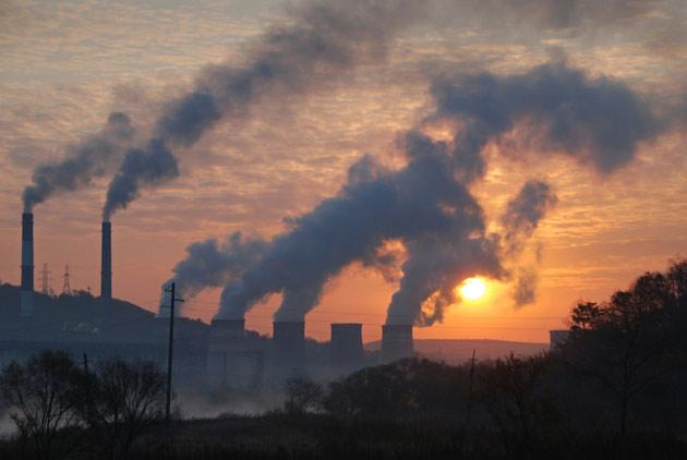 空汙如鍋蓋 台中火力發電廠